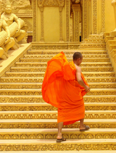 Caption: Buddhist monk near Phnom Penh, Cambodia (May 2009). Photo by Adam Jones, PhD/Global Photo Archive/Flickr