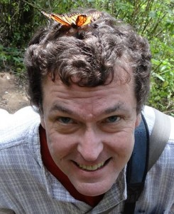 Adam Jones with butterfly on his head. Photo by Griselda Ramirez